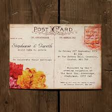 Wedding Postcard Postcard Wedding Invitations sansalvajeCom 1
