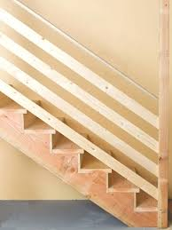 basement stairs ideas. Interesting Railing Idea For Basement Stairs Would Look Good Being Stained With The Opposite Wall Washed Ideas U