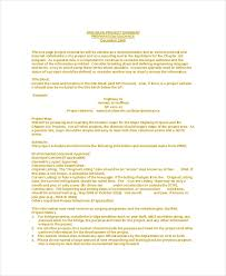One Pager Project Template 8 Project Summary Templates Free Word Pdf Document