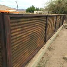 corrugated metal and wood fence wood framed corrugated metal fence plans dible digital fascinating and