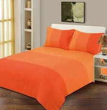 Double Bed Duvet / Quilt Cover Bedding Set Lexie Orange Plain 3 ... & Double Bed Duvet / Quilt Cover Bedding Set Lexie Orange Plain 3 Tone:  Amazon.co.uk: Kitchen & Home Adamdwight.com