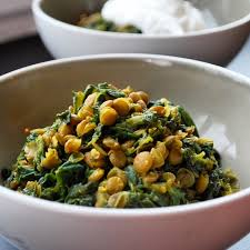 braised lentils with spinach