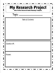 Non Fiction Research Project Q A Book Template Nifty Nonfiction