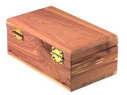 cedar wood trinket box shut box rear