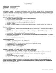Standard Office Equipment List Administrative Assistant Job Opening East Rockhill Township