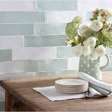 Brilliant Kitchen Wall Tiles Laura Ashley Artisan Eau De Nil Inside Design Decorating