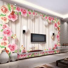 3d wall designs bedroom. Fine Bedroom Romantic Rose Wallpaper Personalized Custom 3D Wall Murals Modern Photo  Wallpaper Wedding Room Decor Kid Bedroom Interior Designin Wallpapers From Home  Inside 3d Designs P