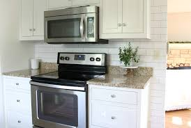 Kitchen Backsplash For Renters Easy Subway Tile Temporary Backsplash Tutorial The Crazy Craft Lady