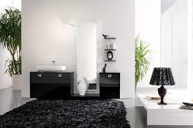 choose black bathroom rugs
