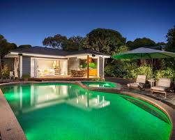 indoor outdoor pool house. Mid-sized Coastal Backyard Stone And Custom-shaped Pool House Photo In Melbourne Indoor Outdoor