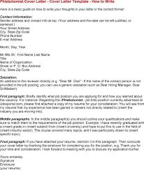 Resume Entry Level Unique Cover Letters Examples For Phlebotomist