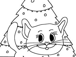 Kleurplaat Poes Kerst Ik Wil Een Poesnl