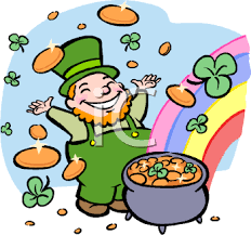 lucky leprechaun with a pot of gold   royalty free clip art    lucky leprechaun   a pot of gold   royalty free clip art illustration