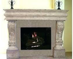 concrete fireplace surround cast mantels surrounds cost architectural