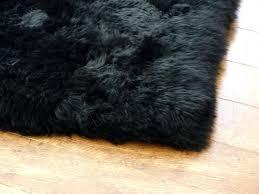 black fur rug sheepskin pelt brown for