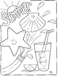 Summer Vacation Coloring Pictures Travel Themed Pages Printable ...