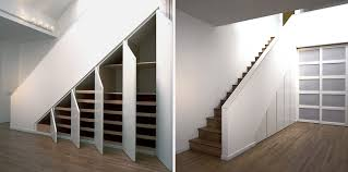 storage closets under stairs