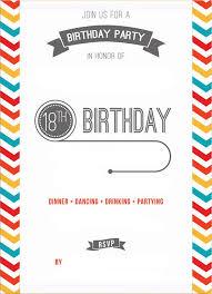 Free Printable 18th Birthday Invitation Template Birthday