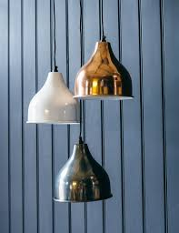 rose gold chalky white and nickel pendant lights from rose and grey