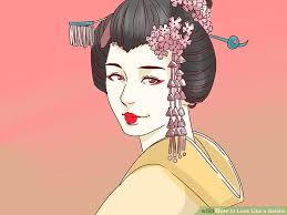 image led look like a geisha step 19