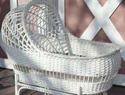 White Wicker Bassinet - Hollywood Thing