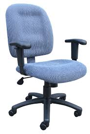Office Chair With Adjustable Arms Sky Blue Ergonomic Fabric Task Office Chairs With Adjustable Arms
