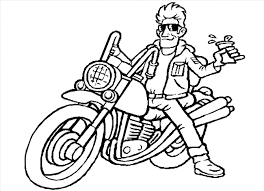 Small Picture Motorcycle Coloring Pages Coloring Kids