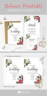 Wedding Invitation Insert Templates New A Floral Botanic Printable