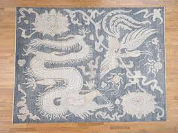 9 x11 8 hand knotted dragon and phoenix design peshawar pure wool oriental rug cwr40368