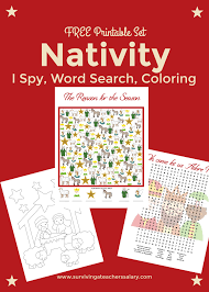 Small Picture Free Nativity Printable Worksheets Coloring Pages