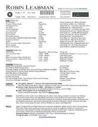 Invoices Acting Resume Template Templates For Actors Actor Within