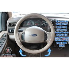 2000 2002 ford expedition ed bauer xlt leather steering wheel cover driver tan