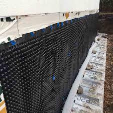 interior footing drains exterior waterproofing membrane