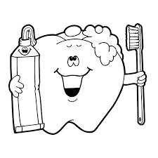 teeth coloring pages brushing tooth page mobile dentist for preschool