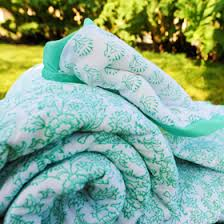 Blue Quilt, French Handmade Country Quilts, Pink and Aqua Quilt ... & Aqua Quilt Adamdwight.com