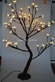 Fake Cherry Blossom Tree With Lights Us 39 99 Indoor Outdoor 64 Led Cherry Blossom Tree Light In 70cm Height With Artifical Nature Trunk Treatment Resin Base 3m Lead Wire In