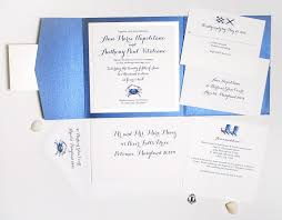 Wedding Invitation Folder Blue Crab Folder Invitation Suite