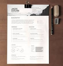 Designer Resume Templates 18 Clean Realistic Cv Template Psd
