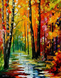 wet path palette knife oil painting on canvas by leonid afremov size 30 x 24