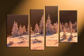 home decor 4 piece canvas art prints landscape pictures nature multi panel art on sepia canvas wall art with 4 piece brown canvas sepia landscape huge pictures