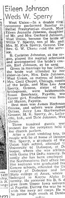 Wedding of Eileen Johnson and Willis Sperry - Newspapers.com