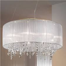 stunning clip on chandelier shades plastic large shade with decorative candles and crystal