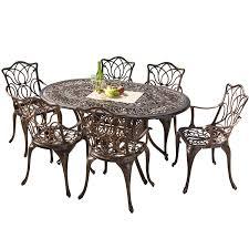 gardena cast aluminum outdoor dining set set of 7 review best patio dining sets