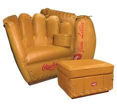 rawlings leather baseball glove chair