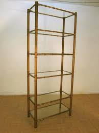 modern faux bamboo display stand glass shelves eames from seek mod on