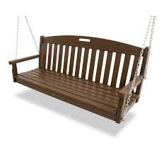 Trex Outdoor Furniture Yacht Club 2 Person Tree House Recycled Plastic Outdoor Swing In The Porch Swings Gliders Department At Lowes Com
