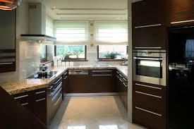 dark wood kitchen cabinets modern