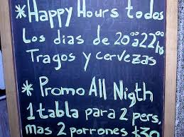 spanglish a bar mispells night on their promotional boar flickr