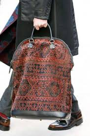 carpet bag. reminds me of vintage carpet bags. bag a