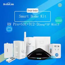 <b>Broadlink Rm Pro</b>+S2C Alarm Kit +TC2 Wall Switch+Sp Mini3 ...